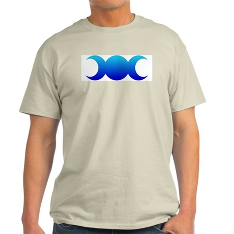 Blue Triple Goddess Ash Grey T-Shirt