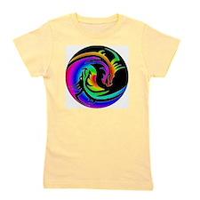 Zen rainbow dragons 11x11 Girl's Tee