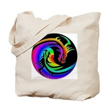 Zen rainbow dragons 11x11 Tote Bag