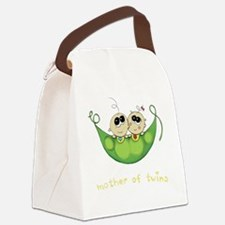 Mother of Twins, Boy/Girl Canvas Lunch Bag