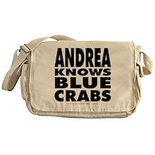 Andrea-Knows-Blue-Crabs Messenger Bag