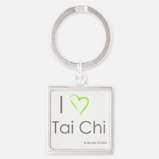 I love taichi - middle Square Keychain