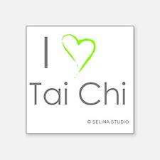 """I love taichi - middle Square Sticker 3"""" x 3"""""""