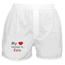 My heart belongs to ezra Boxer Shorts