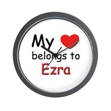 My heart belongs to ezra Wall Clock