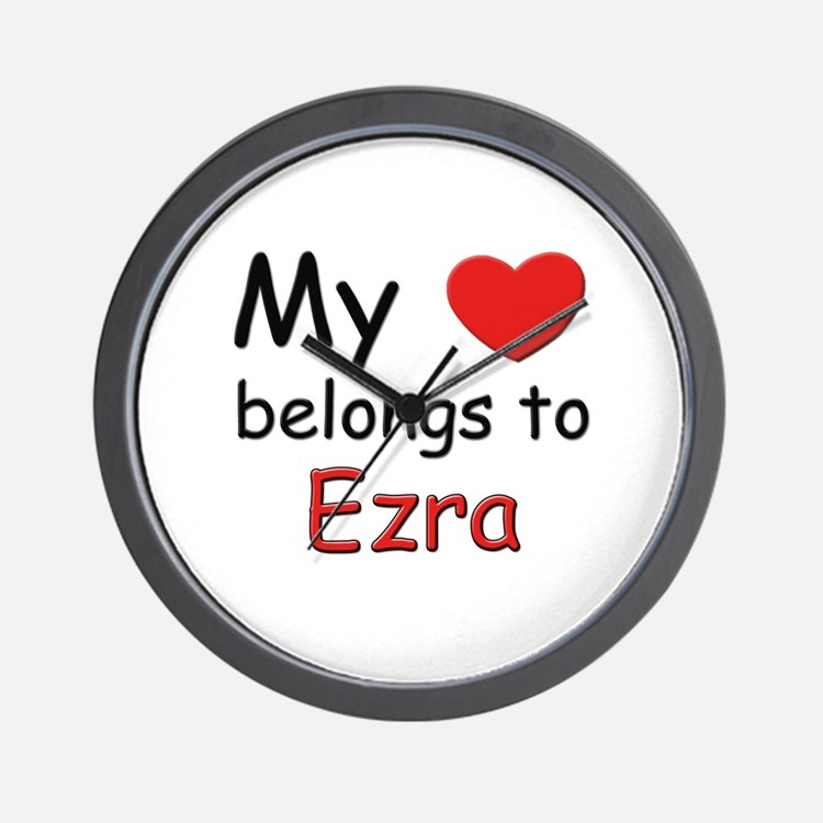 My heart belongs to ezra Wall Clock