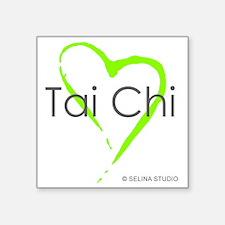 """taichi hearti Square Sticker 3"""" x 3"""""""