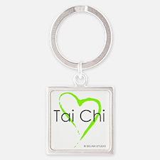 taichi hearti Square Keychain