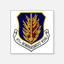 "2-97th Bomb Wing Square Sticker 3"" x 3"""