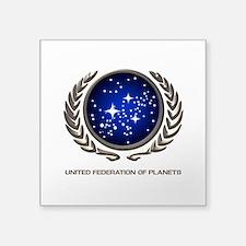 STAR TREK UFP Insignia Square Sticker 3