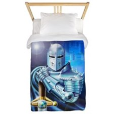 Blue Knight Twin Duvet Cover
