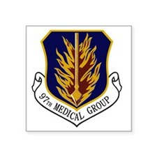 "97th Medical Group Square Sticker 3"" x 3"""
