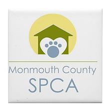 THE Monmouth County SPCA LOGO Tile Coaster