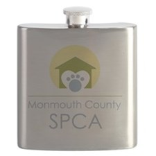 THE Monmouth County SPCA LOGO Flask