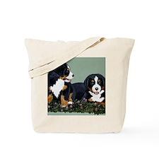 Bernese Pups in Clover Tote Bag