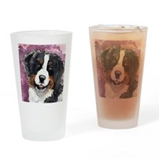 Bernese Eyes of Trust Square Drinking Glass