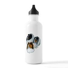 sheltie3 colors heads  Water Bottle