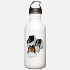 sheltie3 colors heads  Water Bottle