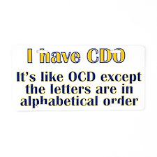 OCD Aluminum License Plate