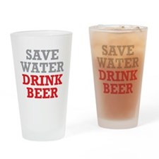 Save Water Drinking Glass