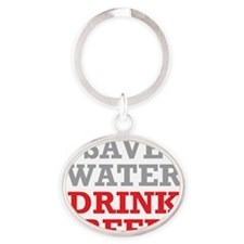 Save Water Oval Keychain
