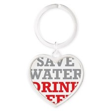 Save Water Heart Keychain
