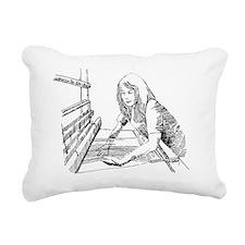 weaving Rectangular Canvas Pillow