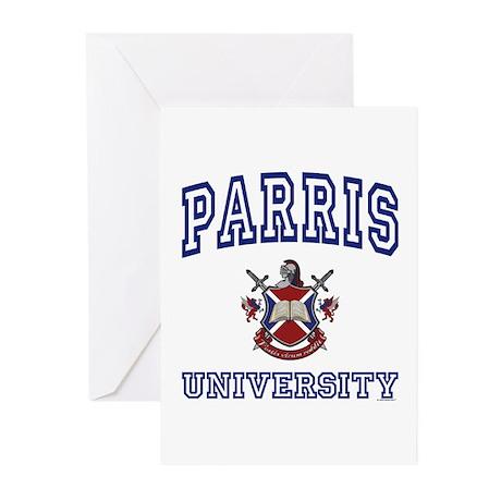 PARRIS University Greeting Cards (Pk of 10)