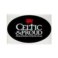 CelticProud_Cymru5x3oval_sticker Rectangle Magnet