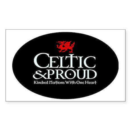 CelticProud_Cymru5x3oval_stick Sticker (Rectangle)