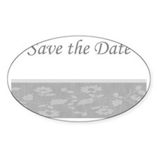 Save the date silver Ncard Decal
