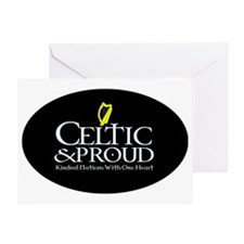 CelticProud_Eire5x3oval_sticker Greeting Card