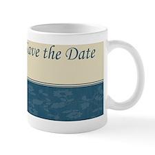 Save the date blue Ncard Mug