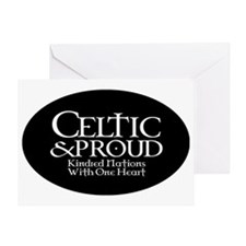 CelticProud_5x3oval_sticker Greeting Card