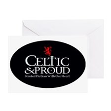 CelticProud_Scotland5x3oval_sticker Greeting Card