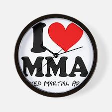 I Heart MMA Wall Clock