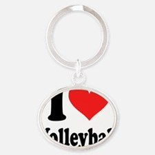 i heart volleyball ( i love my t shi Oval Keychain