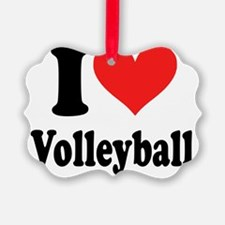 i heart volleyball ( i love my t  Ornament