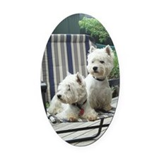Westiechairect Oval Car Magnet