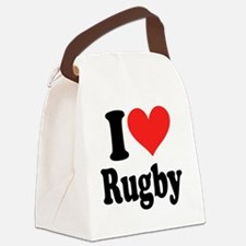 I Heart Rugby Canvas Lunch Bag