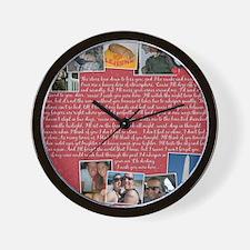 Nicole Sharpe Pillow Wall Clock