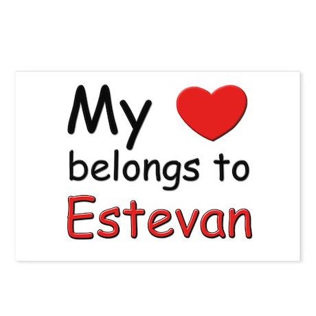 My heart belongs to estevan Postcards (Package of