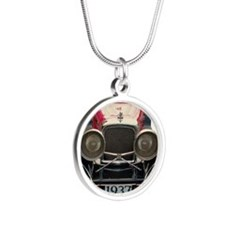 1937 Jaguar! Silver Round Necklace