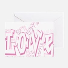 Graffiti Scramble White Greeting Card