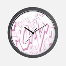 Graffiti Scramble White Wall Clock