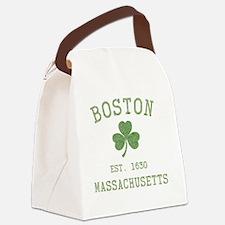 boston-massachusetts-irish-green Canvas Lunch Bag