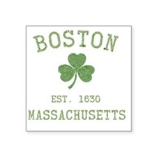 "boston-massachusetts-irish- Square Sticker 3"" x 3"""