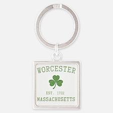 worcester-massachusetts Square Keychain