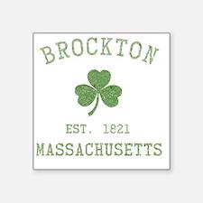 """brockton-massachusetts Square Sticker 3"""" x 3"""""""