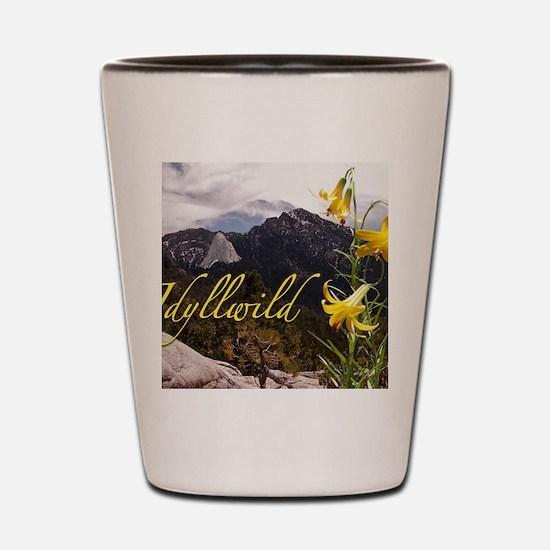Grandmother Mountain and Lemon Lily Shot Glass